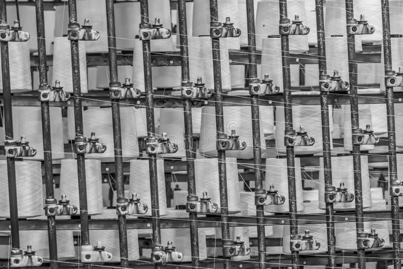 Rolls di cotone industriale fotografia stock libera da diritti