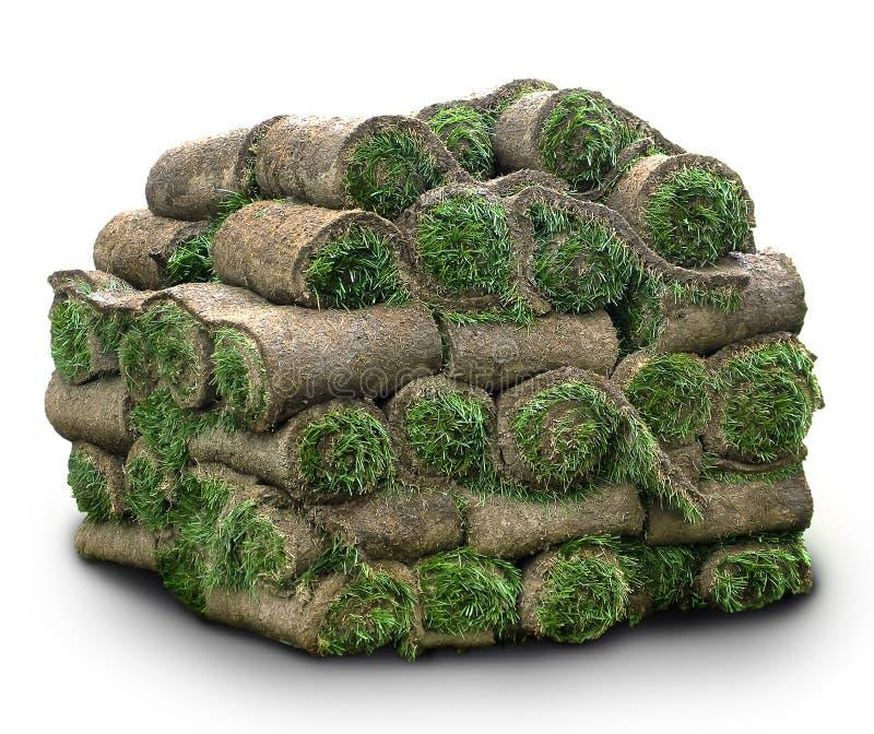 Rolls di erba immagine stock