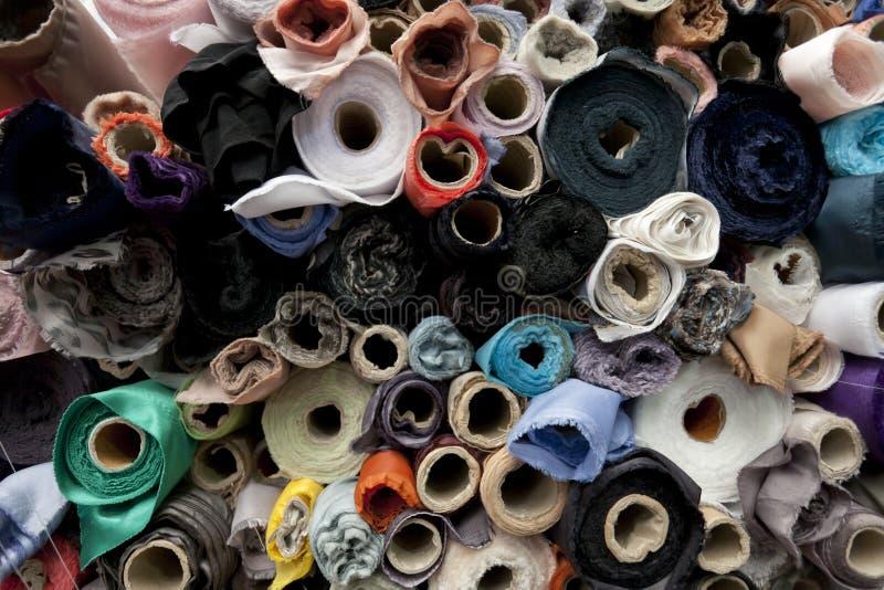 Rolls di tessuto e dei tessuti immagine stock libera da diritti