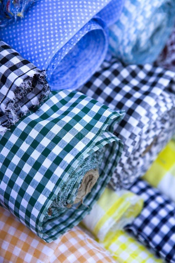 Download Rolls of fabric stock photo. Image of bins, flea, garage - 13253738