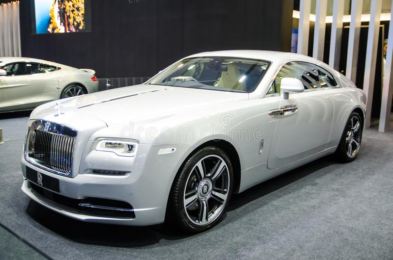 Rolls-$l*royce ` Wraith ` στο άσπρος-ασημένιο χρώμα στη Μπανγκόκ motorshow 2018 στοκ εικόνες