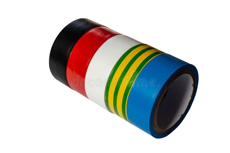 Rolls of a multi-colored  tape royalty free stock image