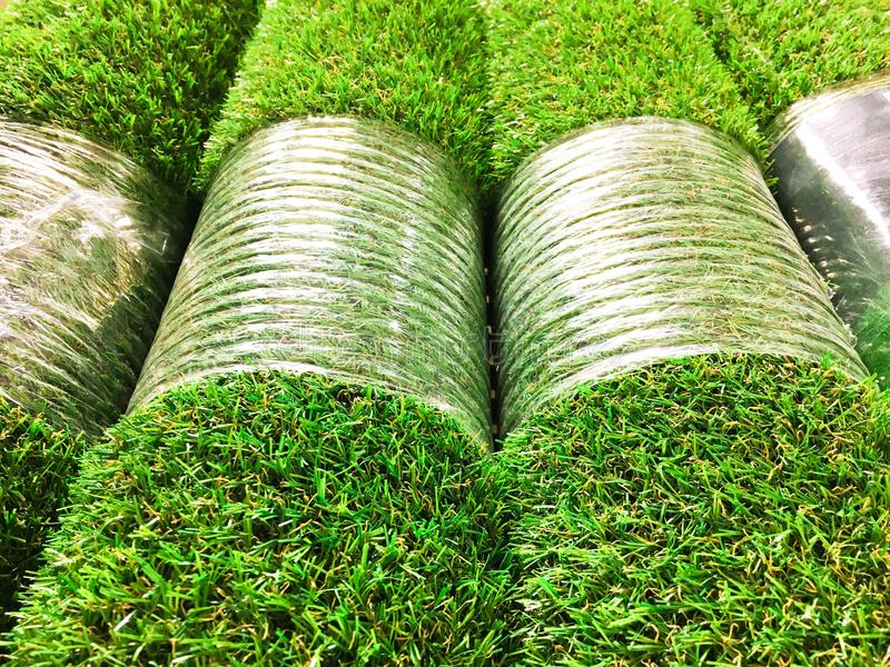 Artificial grass detail royalty free stock images