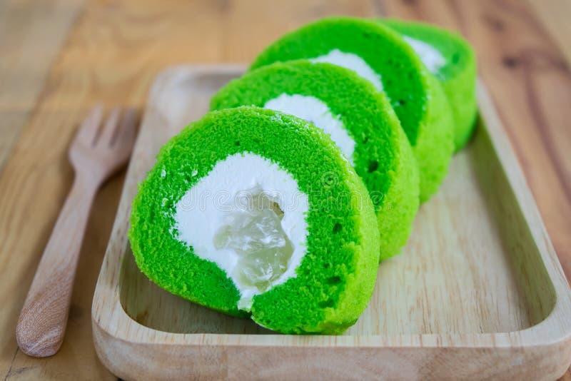 Rolls Pandan Cake royalty free stock photo