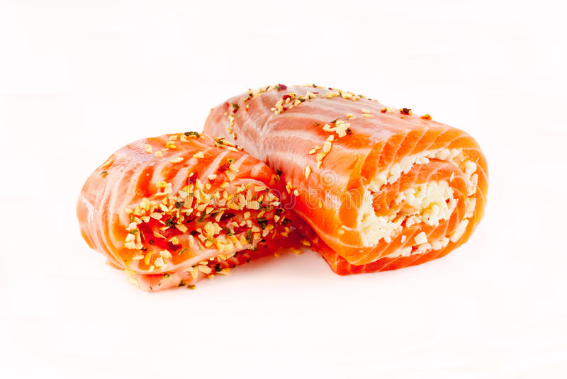 Rolls. Red fish stock photography