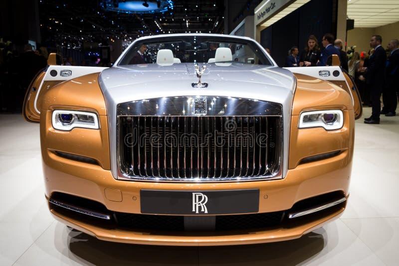 Rolls Royce świtu luksusu kabriolet zdjęcia stock