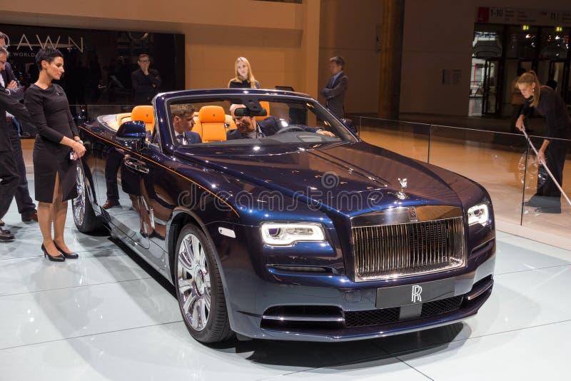 Rolls Royce świtu samochód obrazy royalty free