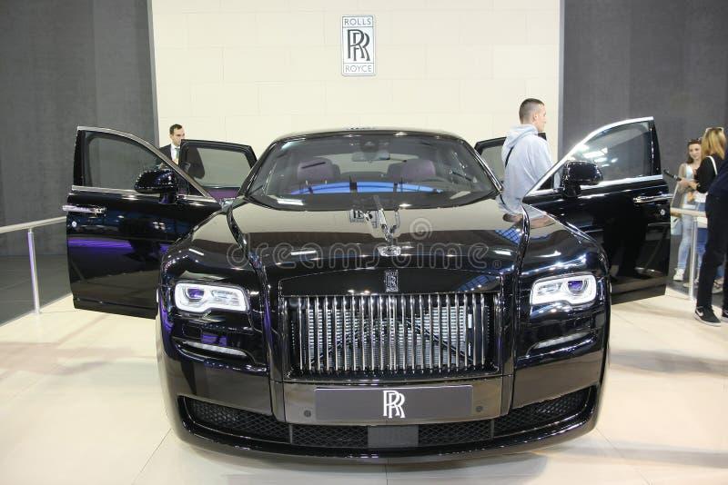 Rolls Royce на выставке автомобиля Белграда стоковые изображения