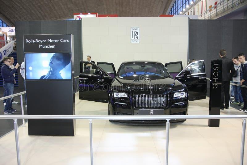 Rolls Royce на выставке автомобиля Белграда стоковая фотография