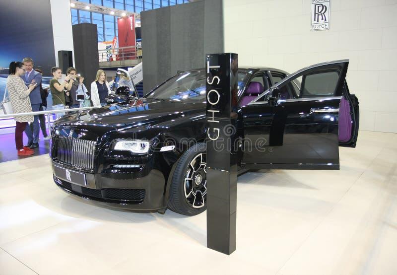 Rolls Royce на выставке автомобиля Белграда стоковое фото rf