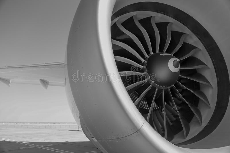 Rolls Royce Airbus A-350 Jet Engine images stock