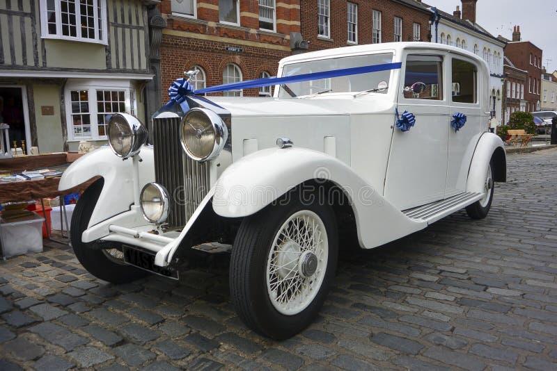 Rolls Royce branco foto de stock