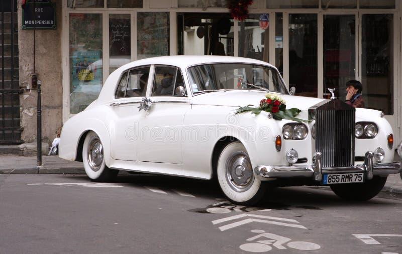 Rolls Royce branco fotos de stock