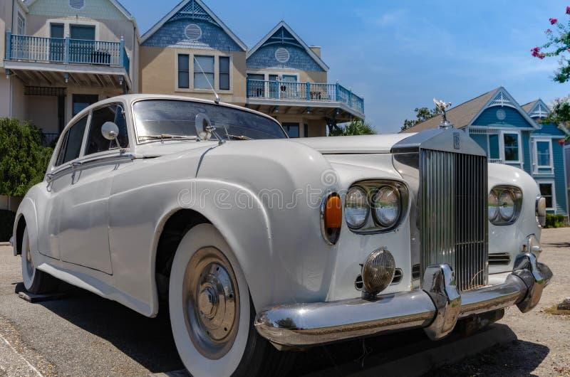 Rolls Royce branco na exposição fotos de stock royalty free