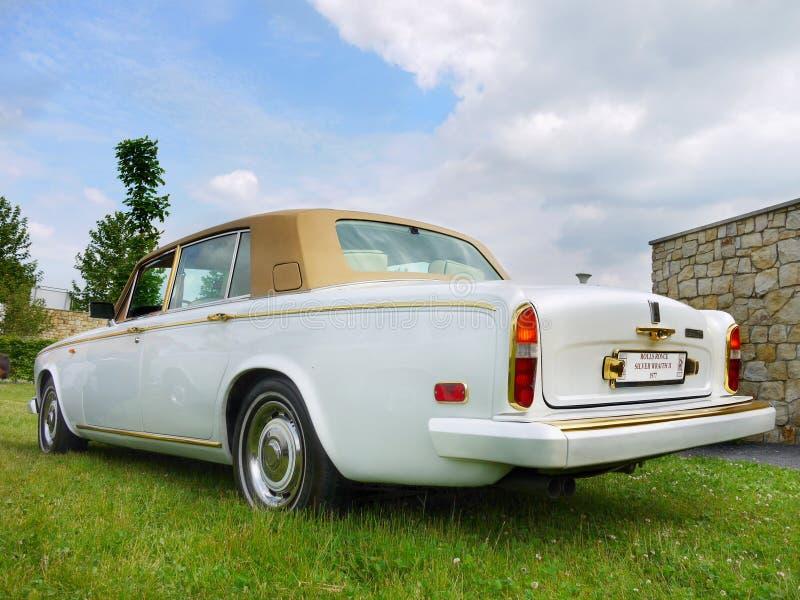 Rolls Royce, coche de la obra clásica del vintage fotografía de archivo libre de regalías