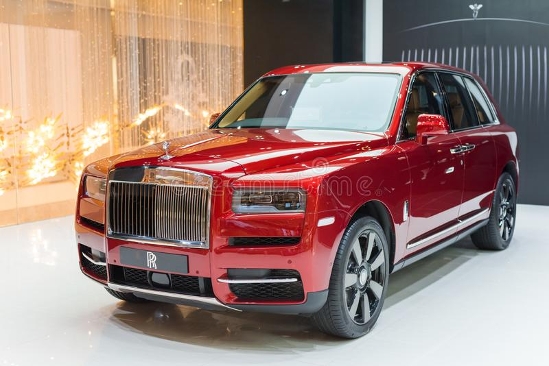 Rolls Royce Cullinan in Iconsiam stock foto's