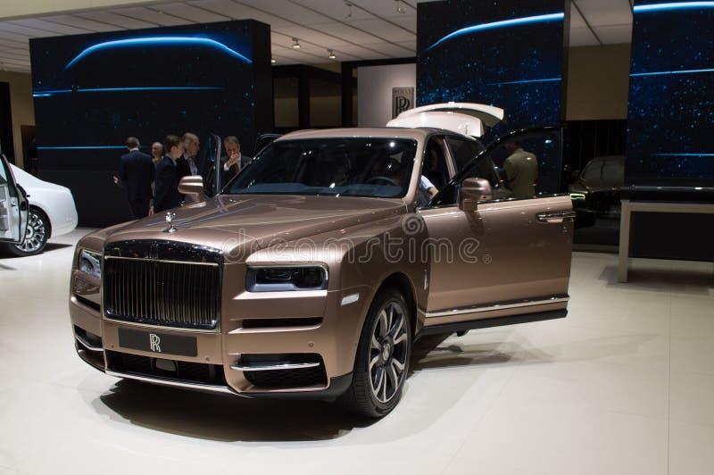 Rolls Royce Cullinar em Genebra 2019 foto de stock royalty free