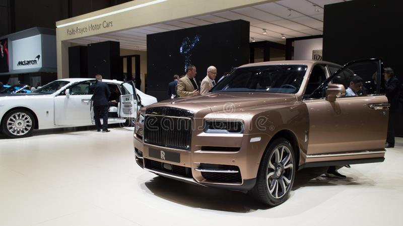 Rolls Royce Cullinar em Genebra 2019 imagem de stock royalty free