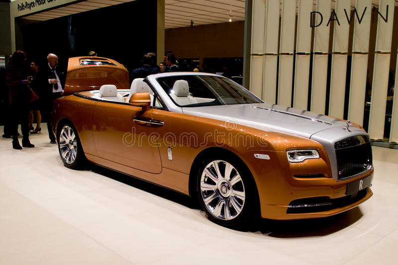 Rolls Royce Dawn in Genève 2016 royalty-vrije stock fotografie