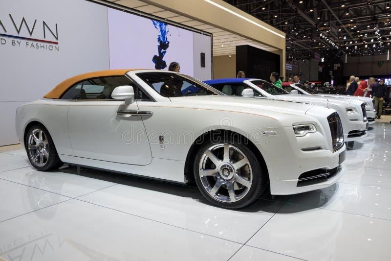 2018 Rolls Royce Dawn Inspired pela forma foto de stock