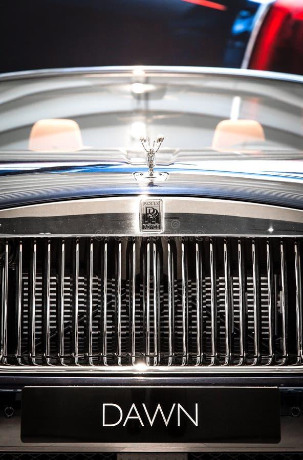 Rolls Royce Dawn no museu de BMW fotografia de stock royalty free