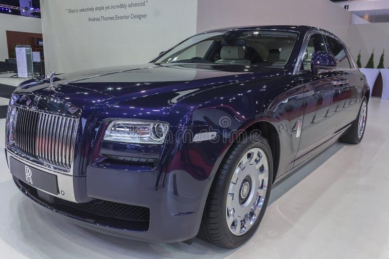 Rolls Royce ducha Wheelbase Rozszerzony samochód fotografia royalty free