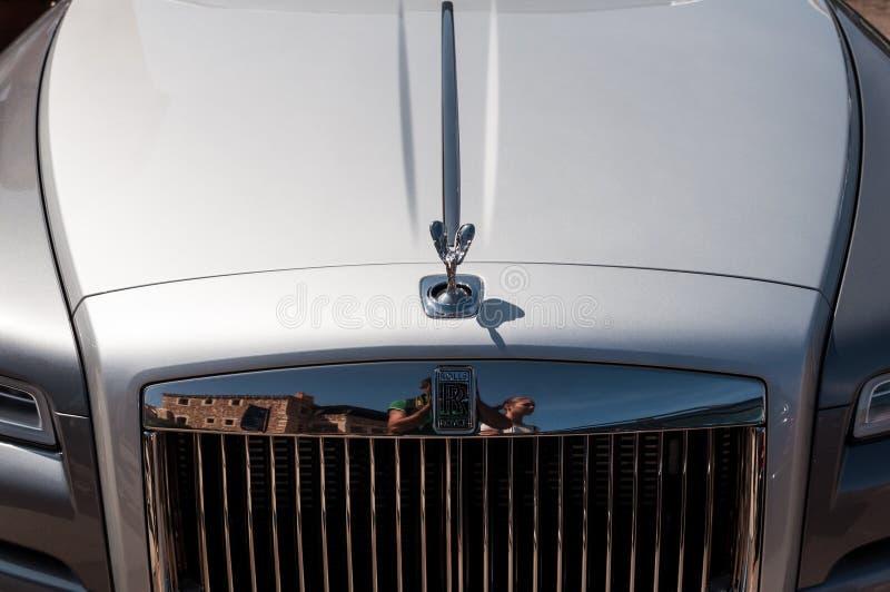Rolls Royce fantom w Porto Cervo obraz stock