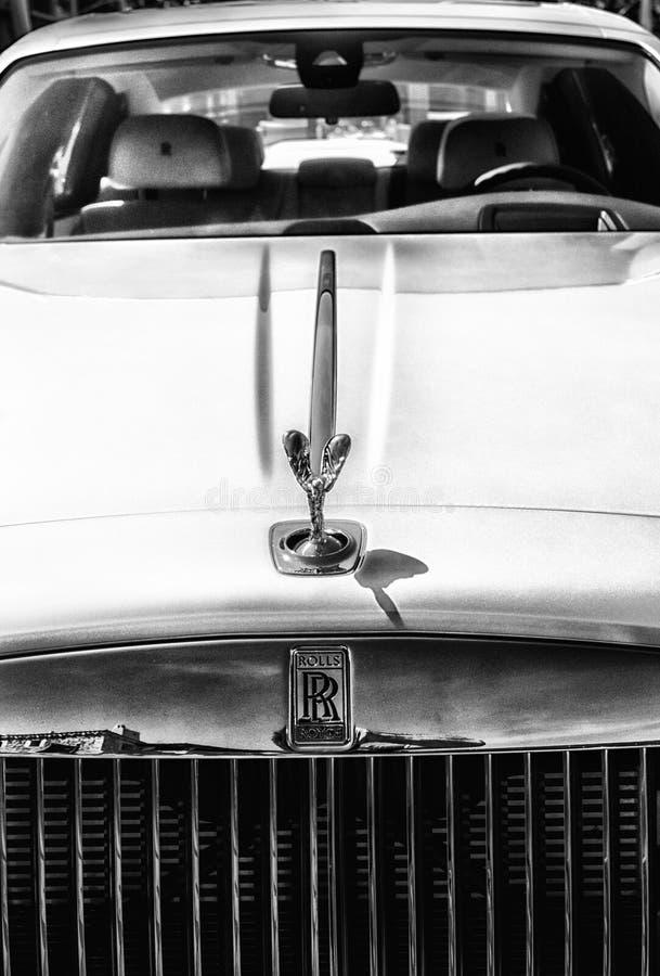 Rolls Royce fantom w Porto Cervo zdjęcie stock