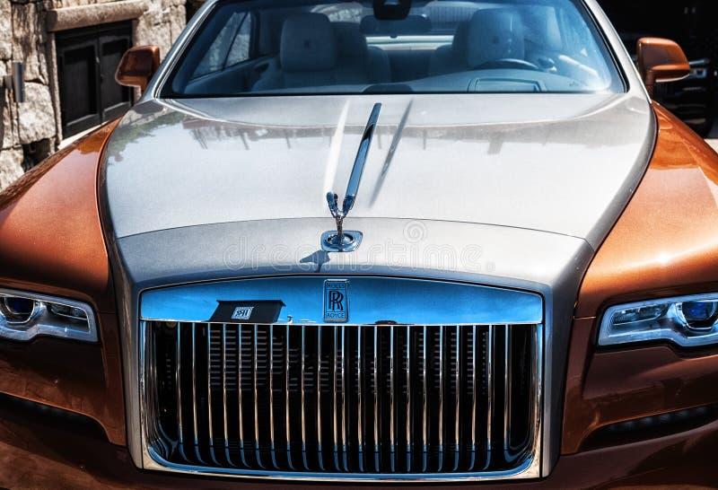 Rolls Royce fantom w Porto Cervo zdjęcie royalty free