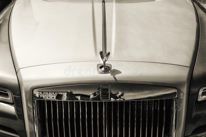 Rolls Royce fantom w Porto Cervo zdjęcia stock