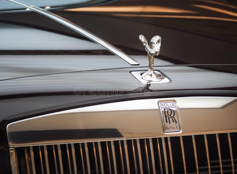 Rolls royce Ghost e Rolls Royce luxuoso exclusivo imagem de stock royalty free