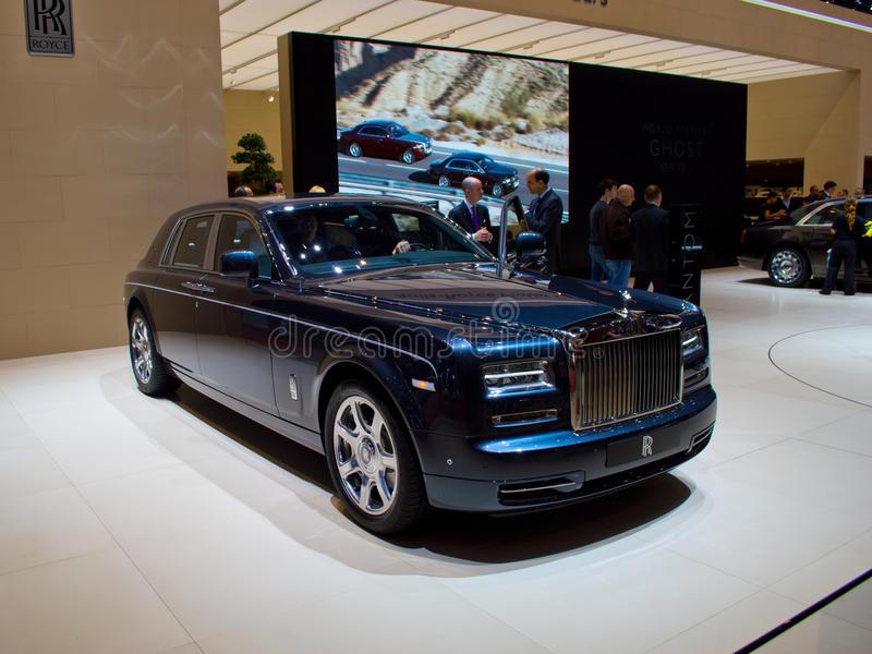 Rolls Royce Ghost Geneva 2013 imagem de stock