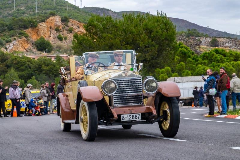 Rolls Royce 20/20HP Salamanca, rallye internacional Barcelona - Sitges do carro do vintage da edição do Th 60 imagem de stock