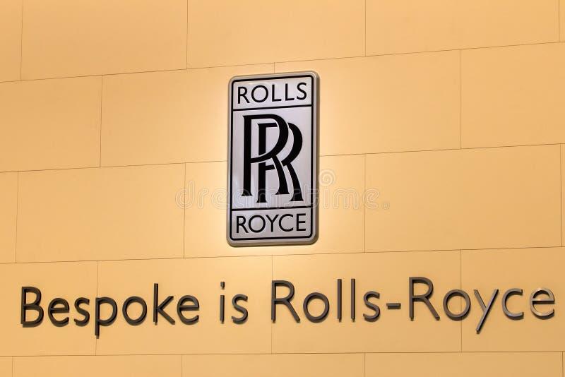 Rolls Royce logo arkivfoton