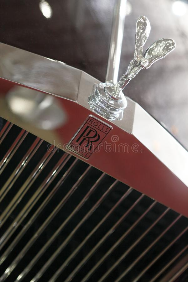 Rolls royce logo royalty free stock images