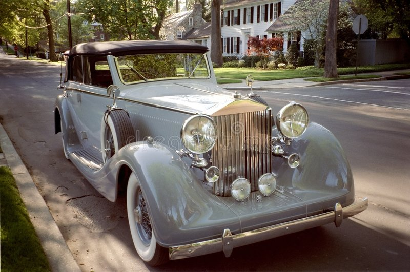 Rolls Royce lussuosa immagine stock