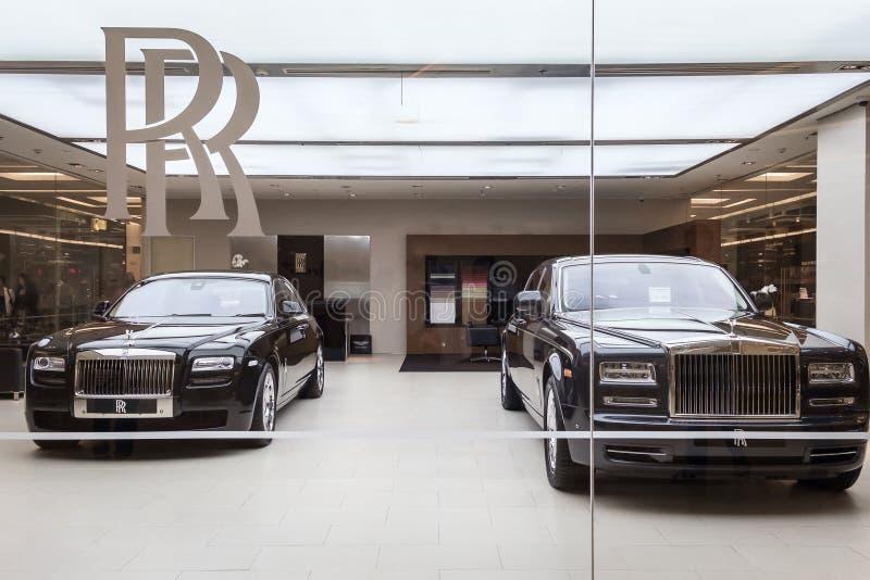 Rolls Royce Motorowi samochody obrazy stock