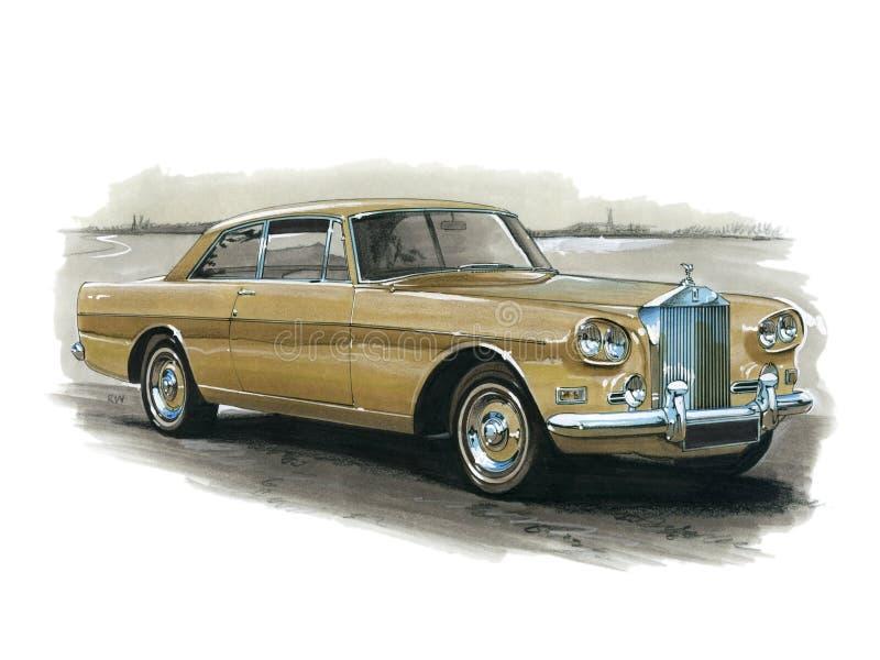 Rolls Royce Mulliner DHC. Illustration of a Rolls Royce Mulliner Drop Head Coupe royalty free illustration