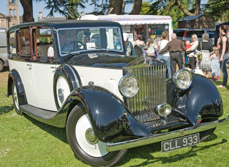 Rolls royce na mostra em Forres. foto de stock royalty free
