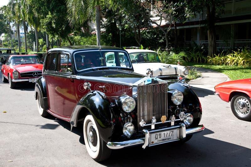Rolls royce na parada do carro do vintage foto de stock