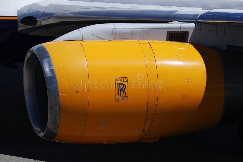 Rolls Royce nivåmotor, närbildsikt arkivfoto