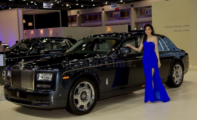 Rolls Royce nowy model przedstawiający w Motorowym przedstawieniu fotografia stock