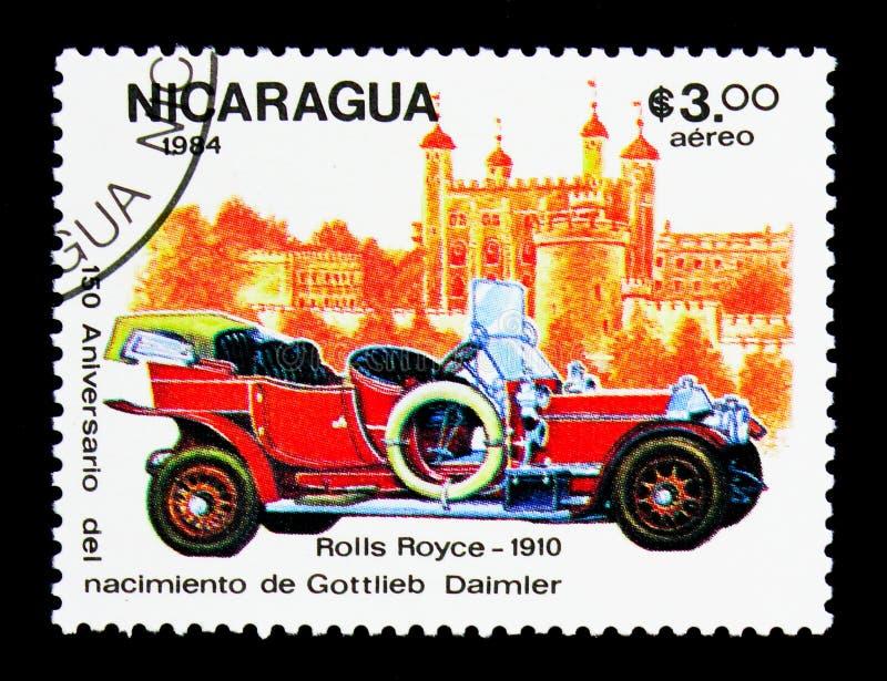 Rolls Royce - 1910, 150o aniversario del nacimiento de Gottlieb D imagenes de archivo