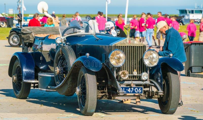 Rolls Royce Oldtimer en el día nacional anual del oldtimer en Lelystad fotos de archivo libres de regalías