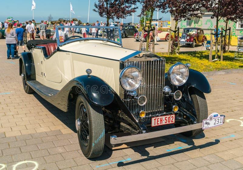 Rolls Royce Oldtimer en el día nacional anual del oldtimer en Lelystad imagen de archivo libre de regalías