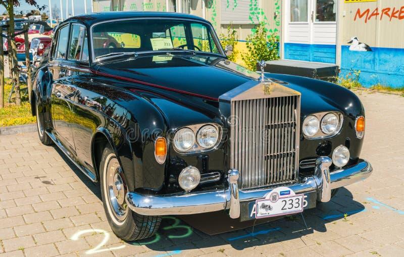 Rolls Royce Oldtimer en el día nacional anual del oldtimer en Lelystad fotografía de archivo