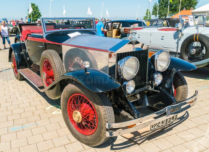 Rolls Royce Oldtimer en el día nacional anual del oldtimer en Lelystad fotos de archivo