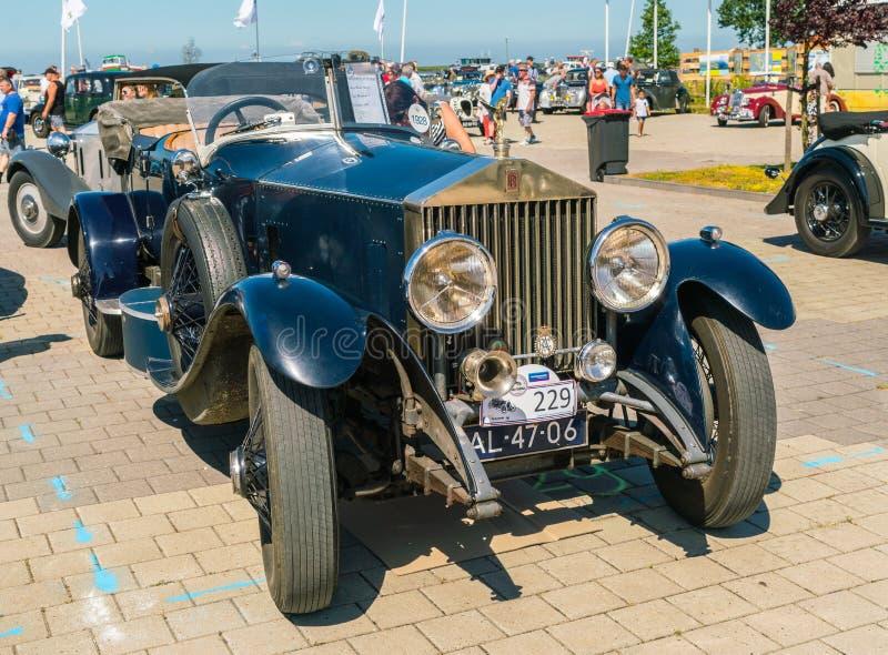 Rolls Royce Oldtimer en el día nacional anual del oldtimer en Lelystad imagen de archivo