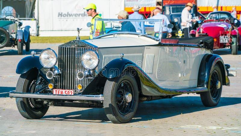 Rolls Royce Oldtimer no dia nacional anual do oldtimer em Lelystad fotografia de stock royalty free