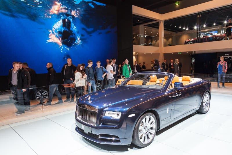 Rolls Royce Phantom Drophead Coupe på IAAEN 2015 royaltyfria foton